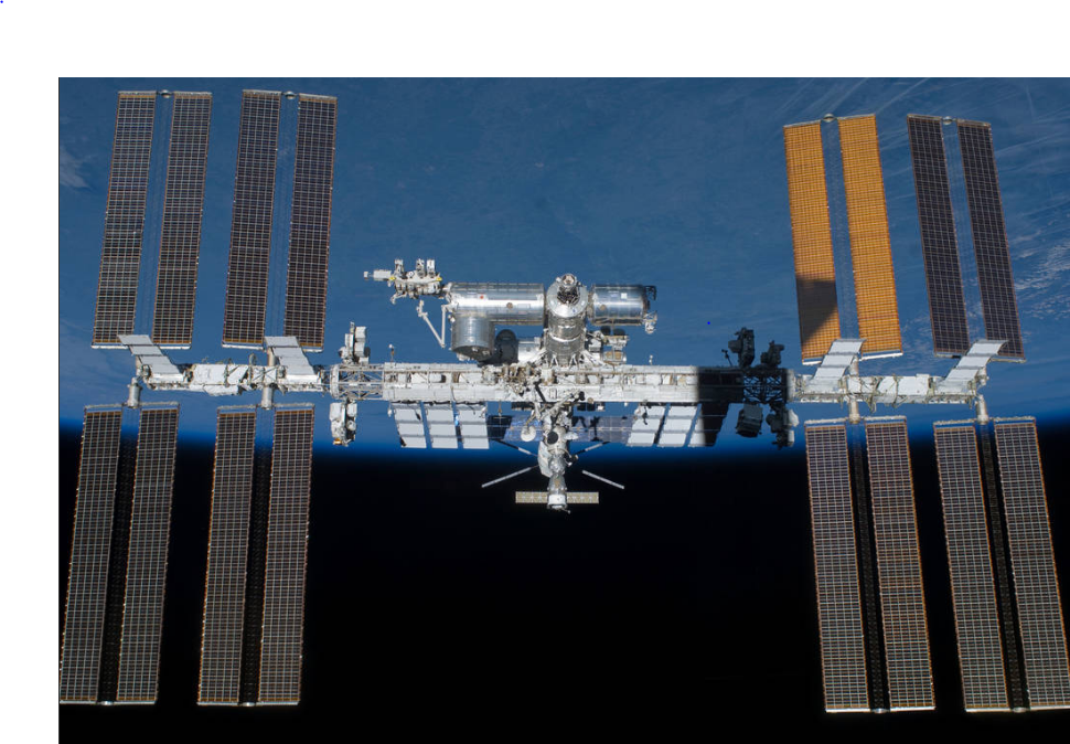 An image of the International Space Station