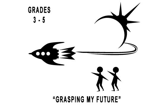 logo EIS Ship, Logo and kids in black and white