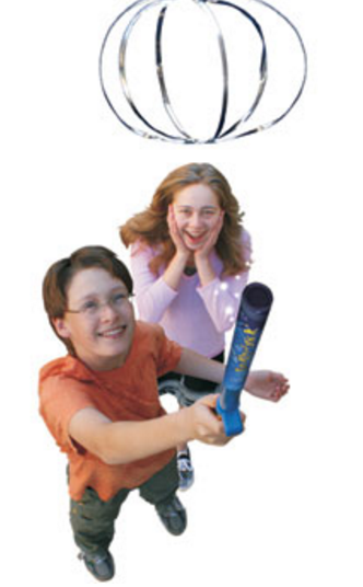 Students using the Fun Flyer Stick